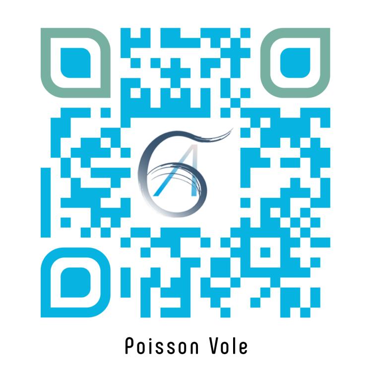 QR Poisson vole - Edité par QR Code Generator.