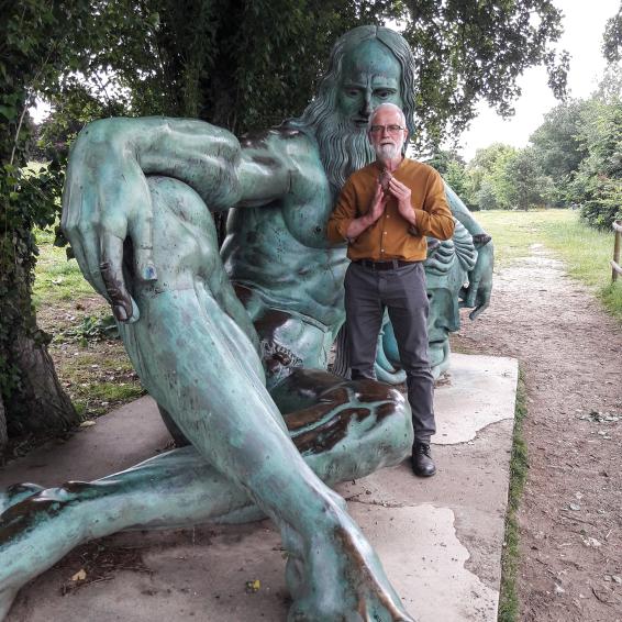 Avec Léonard de Vinci... Photo©IdR.